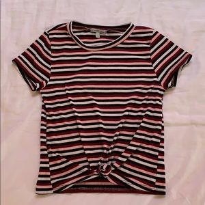 Knitted stripped T-shirt